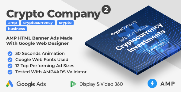 [Free Download] Crypto Company 2 – Animated AMP HTML Banner Ad Templates (GWD, AMP) (Nulled) [Latest Version]