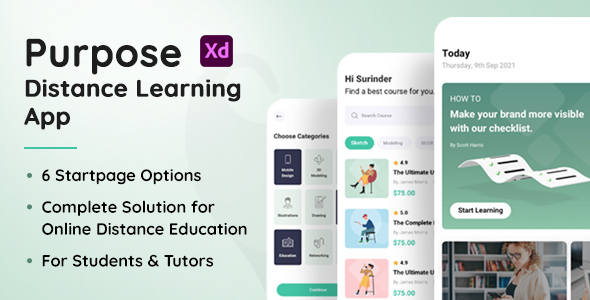 [Free Download] Purpose – Distance Learning App XD Template (Nulled) [Latest Version]