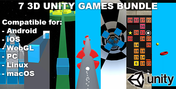 [Free Download] 7 3D Unity Games Bundle (Nulled) [Latest Version]