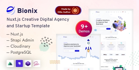 [Free Download] Bionix – Vue Strapi Digital Agency & Startup Template (Nulled) [Latest Version]
