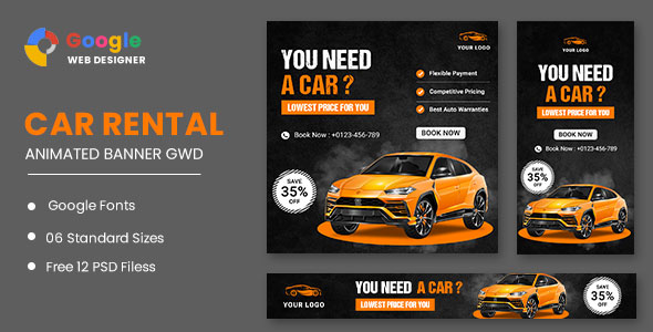 [Free Download] Rent A Car HTML5 Banner Ads GWD (Nulled) [Latest Version]