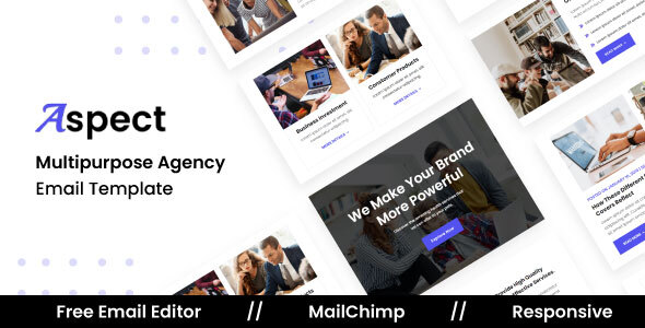 [Free Download] Aspect Agency – Multipurpose Responsive Email Template (Nulled) [Latest Version]