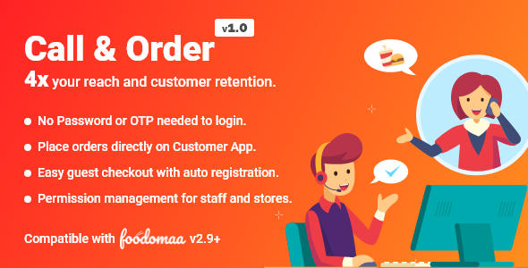 [Free Download] Call And Order Module for Foodomaa (Nulled) [Latest Version]
