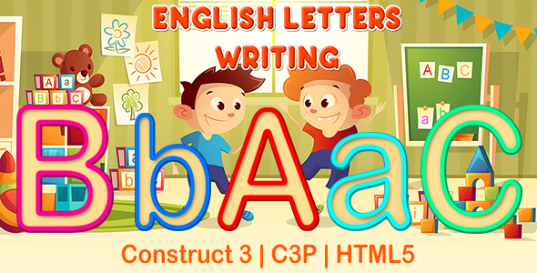 [Free Download] English Letters Writing App (Construct 3   C3P   HTML5) Kids Educational Game (Nulled) [Latest Version]