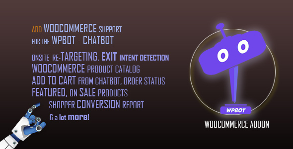 [Free Download] ChatBot for WooCommerce (Nulled) [Latest Version]