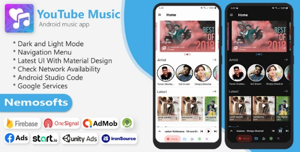 [Free Download] YouTube Music App – Online Music Streaming Apps (Nulled) [Latest Version]