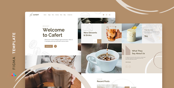 [Free Download] Cafert – Cafe Template for Figma (Nulled) [Latest Version]