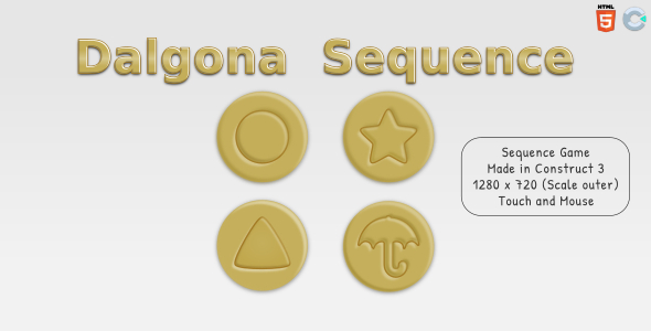 [Free Download] Dalgona Sequence – HTML5 Sequence game (Nulled) [Latest Version]