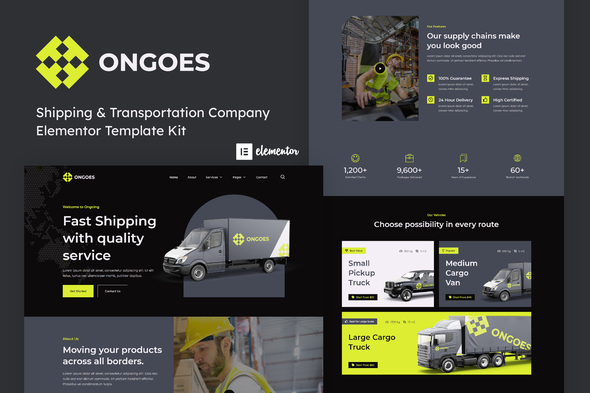 [Free Download] Ongoes – Shipping & Transportation Company Elementor Template Kit (Nulled) [Latest Version]