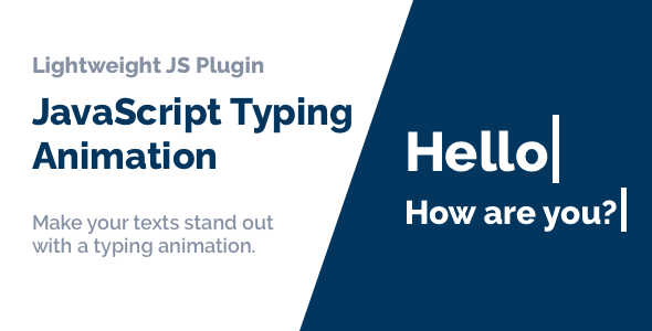 [Free Download] JavaScript Typing Animation (Nulled) [Latest Version]