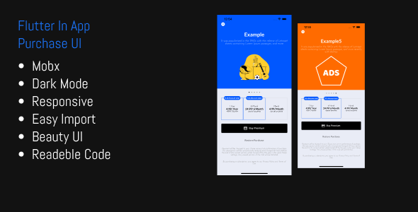 [Free Download] Flutter In App Purchase Responsive UI Template (Nulled) [Latest Version]