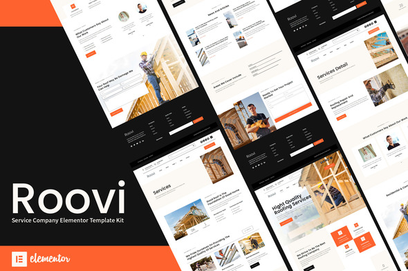 [Free Download] Roovi – Home Improvement Elementor Template Kit (Nulled) [Latest Version]