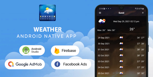 [Free Download] Weather Forecast – Android (Kotlin) (Nulled) [Latest Version]