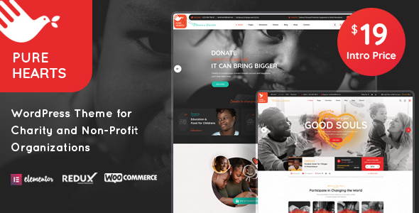 [Free Download] Pure Hearts – Charity & Nonprofit WordPress Theme (Nulled) [Latest Version]