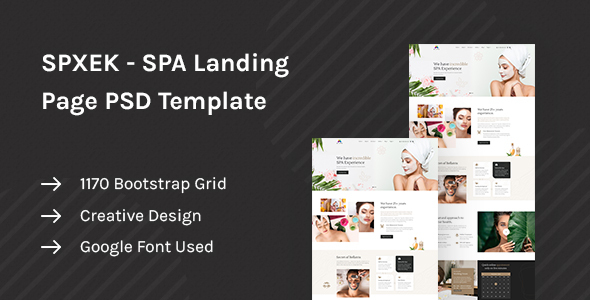 [Free Download] SPXEK – Spa & Beauty Landing Page PSD Template (Nulled) [Latest Version]