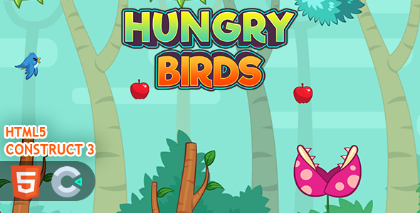 [Free Download] Flappy Hungry Birds HTML5 Construct 3 Game (Nulled) [Latest Version]
