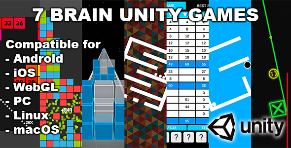 [Free Download] 7 Brain Unity Games Bundle (Nulled) [Latest Version]