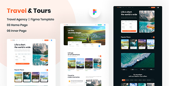 [Free Download] Travel & Tours   Website Figma Template (Nulled) [Latest Version]