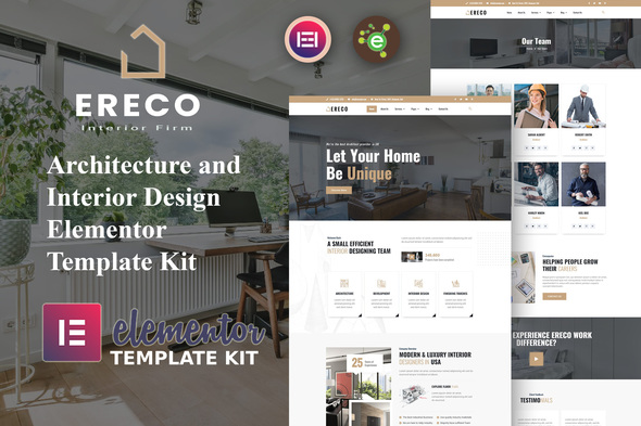 [Free Download] Ereco – Architecture & Interior Design Elementor Template Kit (Nulled) [Latest Version]