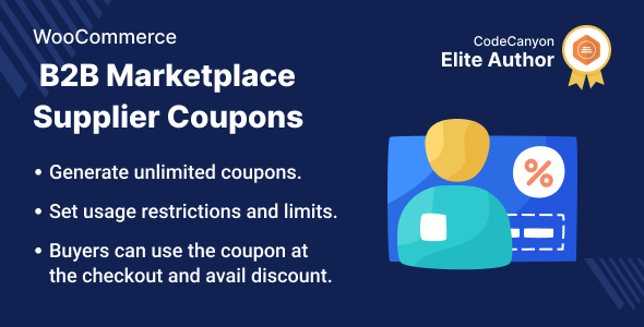 [Free Download] WooCommerce B2B Marketplace Supplier Coupon (Nulled) [Latest Version]