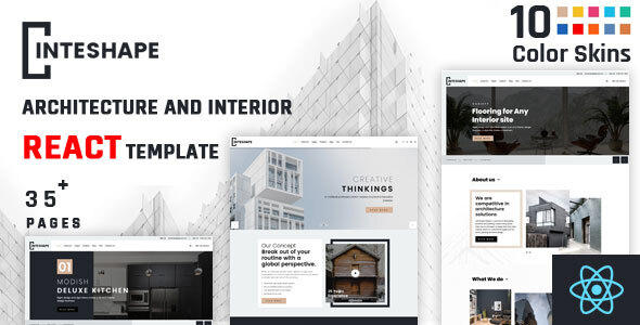 [Free Download] Inteshape – Architecture and Interior React Template (Nulled) [Latest Version]