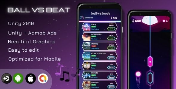 [Free Download] Ball Vs Beat – Unity Game (Unity + Admob Ads) (Nulled) [Latest Version]