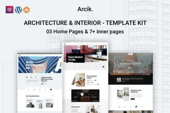 [Free Download] Arcik – Architecture & Interior Elementor Template Kit (Nulled) [Latest Version]