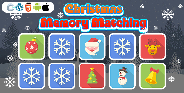 [Free Download] Christmas Memory Matching Game (Construct 3   C3P   HTML5) Christmas Game (Nulled) [Latest Version]