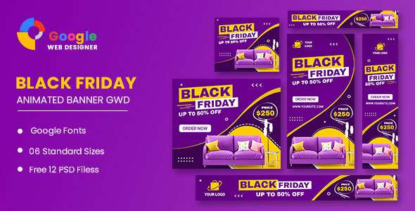 [Free Download] Black Friday Furniture HTML5 Banner Ads GWD (Nulled) [Latest Version]