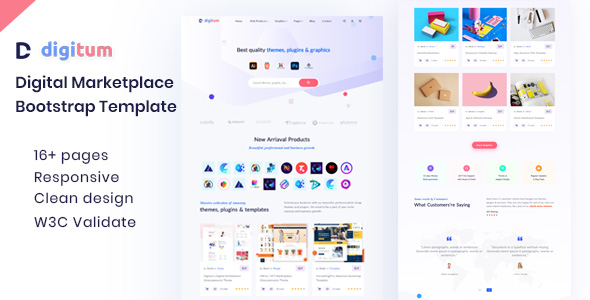 [Free Download] Digitum | Digital Marketplace html Template (Nulled) [Latest Version]