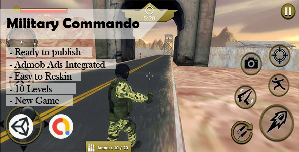 [Free Download] Military Commando Army (Unity – Admob) (Nulled) [Latest Version]