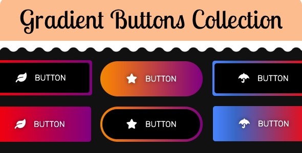 [Free Download] Gradient Buttons Collection (Nulled) [Latest Version]