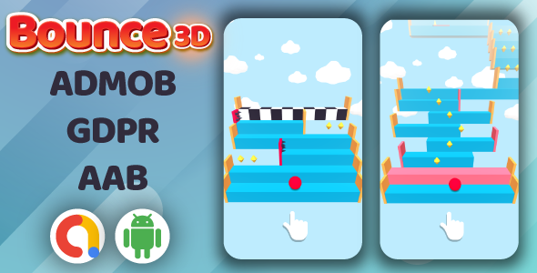 [Free Download] Bounce3D Jumping Ball Android Game + Admob (Nulled) [Latest Version]