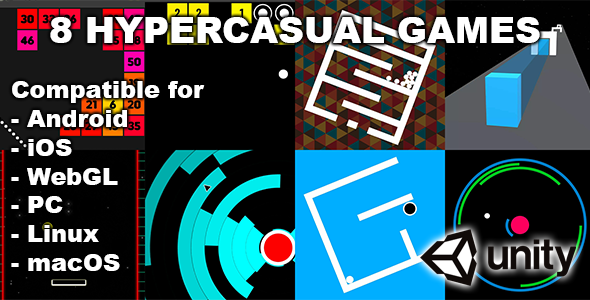 [Free Download] 8 Fun Unity Hypercasual Games (Nulled) [Latest Version]