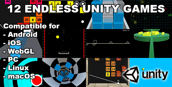 [Free Download] 12 Endless Unity Games Bundle (Nulled) [Latest Version]