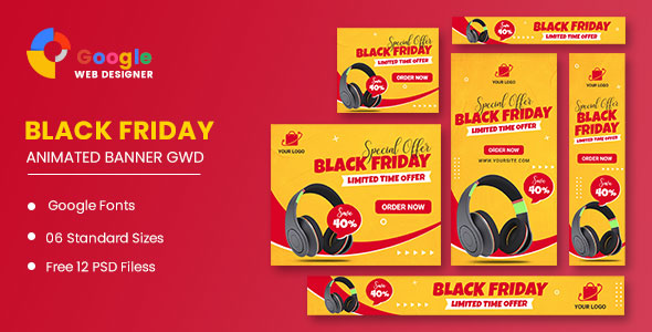 [Free Download] Black Friday Sale Product HTML5 Banner Ads GWD (Nulled) [Latest Version]