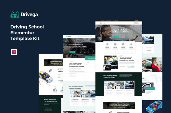 [Free Download] Drivega – Driving School Elementor Template Kit (Nulled) [Latest Version]