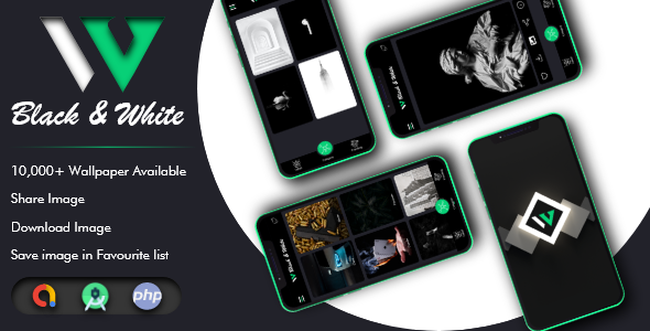 [Free Download] Black and White Wallpaper with Admin Panel + Google Admob (Nulled) [Latest Version]