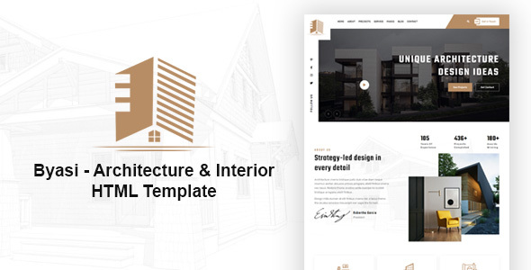 [Free Download] Byasi – Architecture and Interior HTML Template (Nulled) [Latest Version]