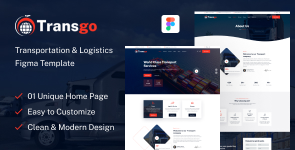 [Free Download] Transgo – Transportation & Logistics Figma Template (Nulled) [Latest Version]