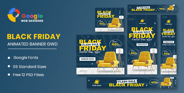 [Free Download] Black Friday Sale Furniture HTML5 Banner Ads GWD (Nulled) [Latest Version]
