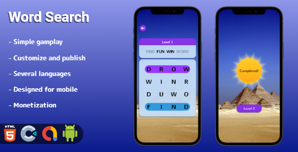 [Free Download] Word Search – HTML5 game (Construct 3) (Nulled) [Latest Version]