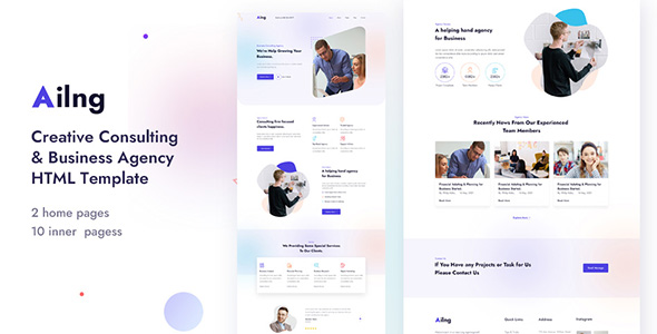 [Free Download] Ailng – Creative Consulting & Business Agency HTML Template (Nulled) [Latest Version]