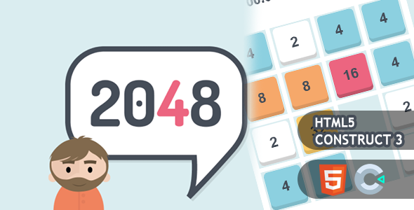 [Free Download] 2048 HTML5 Construct 3 Game (Nulled) [Latest Version]