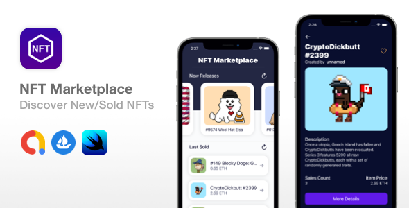 [Free Download] NFT Marketplace – SwiftUI + Widget | Discover New NFTs (Nulled) [Latest Version]