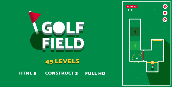 [Free Download] Golf Field – HTML5 Game (Construct3) (Nulled) [Latest Version]