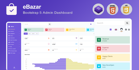 [Free Download] Ebazar – Ecommerce Bootstrap Admin Template (Nulled) [Latest Version]