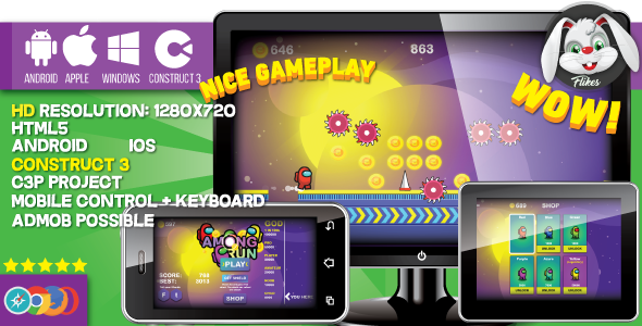 [Free Download] Among Run – HTML5 game, Construct 3 (.c3p) + mobile, sharings, shop, AdMob possible (Nulled) [Latest Version]