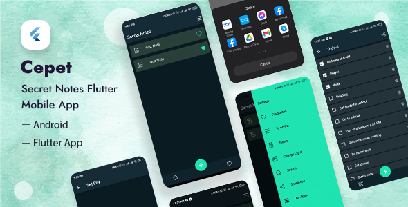 [Free Download] Cepet – Personal Daily Secret Notes Flutter App (Nulled) [Latest Version]