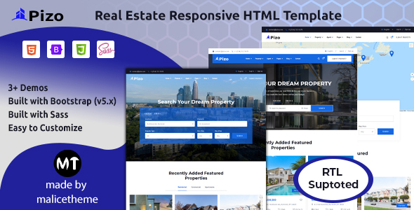 [Free Download] Pizo – Real Estate Responsive HTML Template (Nulled) [Latest Version]